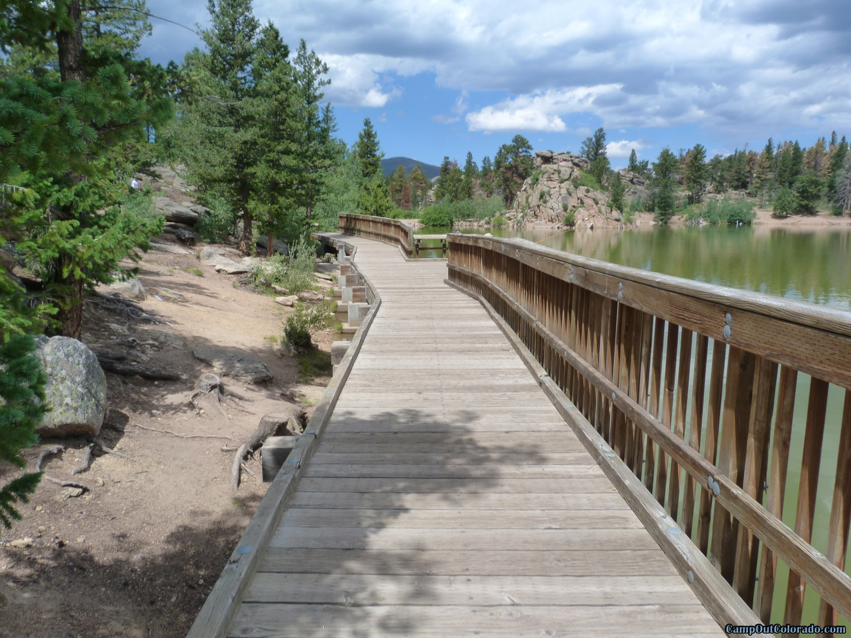 camp-out-colorado-bellaire-lake-fishing-walkway