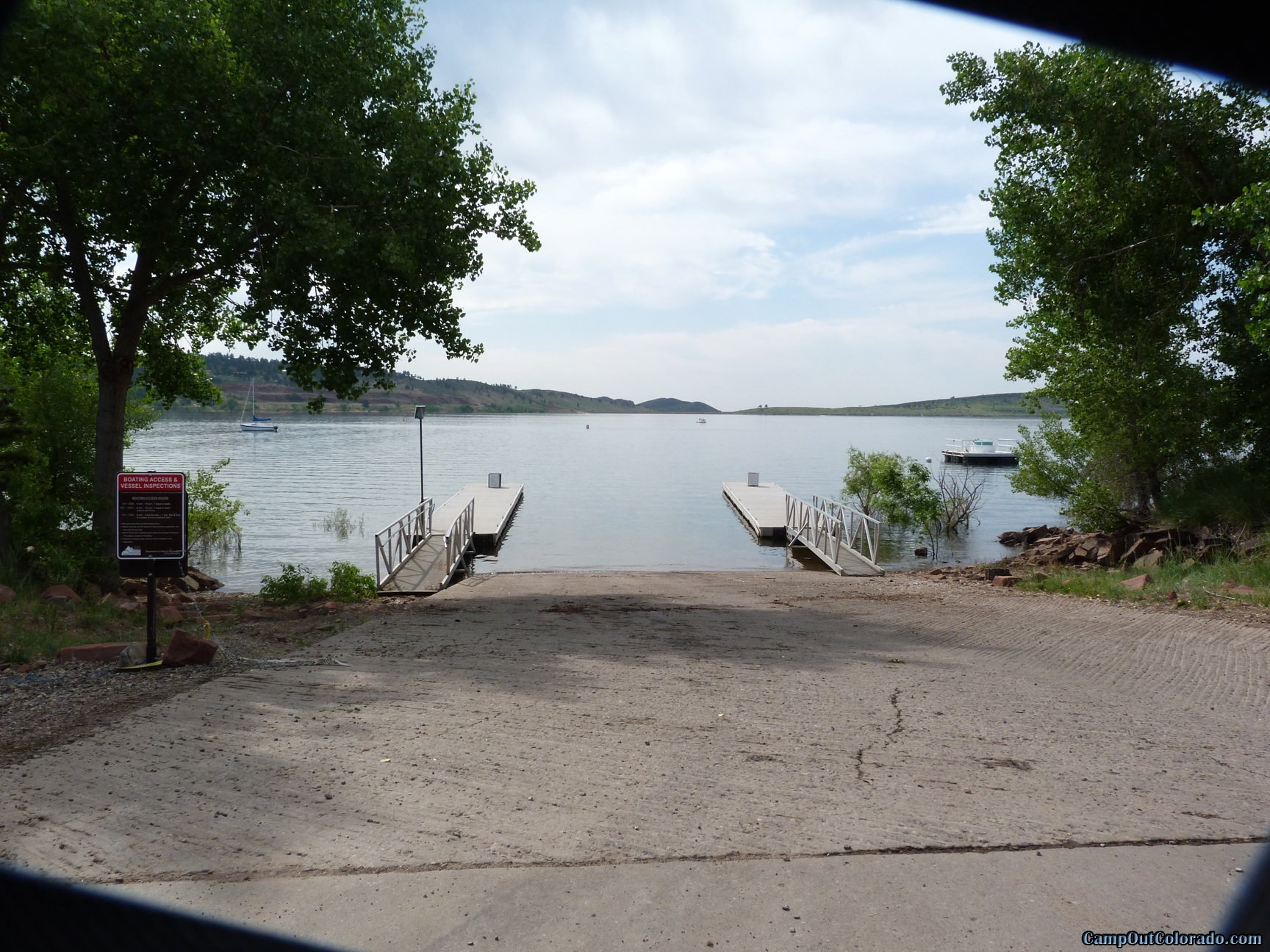 camp-out-colorado-carter-lake-boat-dock