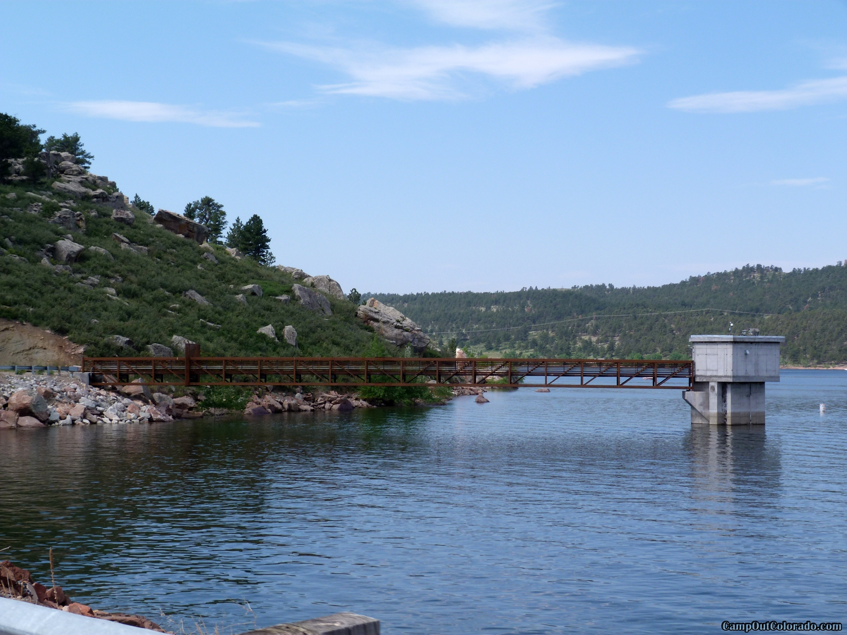 camp-out-colorado-carter-lake-dam
