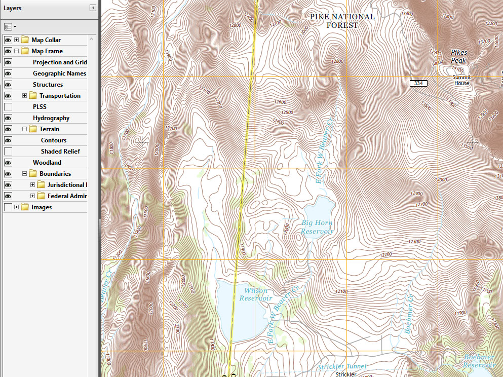 Free USGS Topo Maps Available Camp Out Colorado - Topographic map free download
