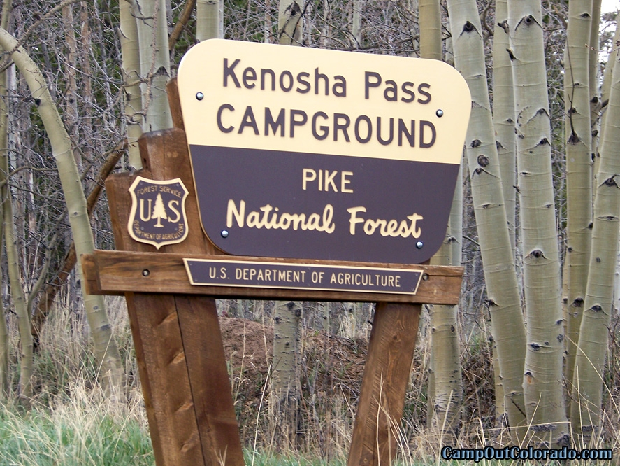 camp-out-colorado-kenosha-pass-campground-sign