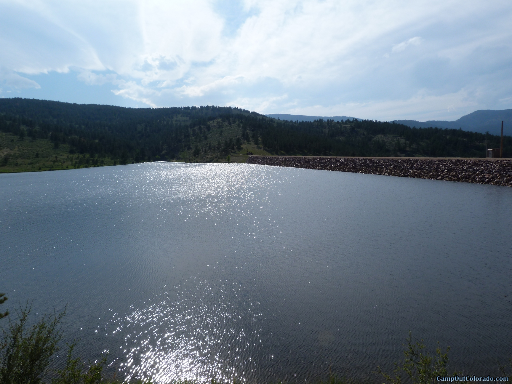 camp-out-colorado-pinewood-dam