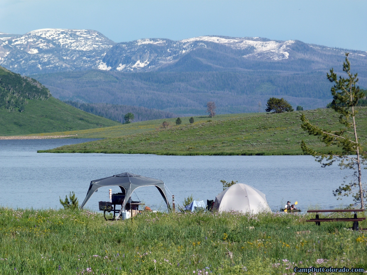 Camping Review Of Steamboat Lake State Park Campground