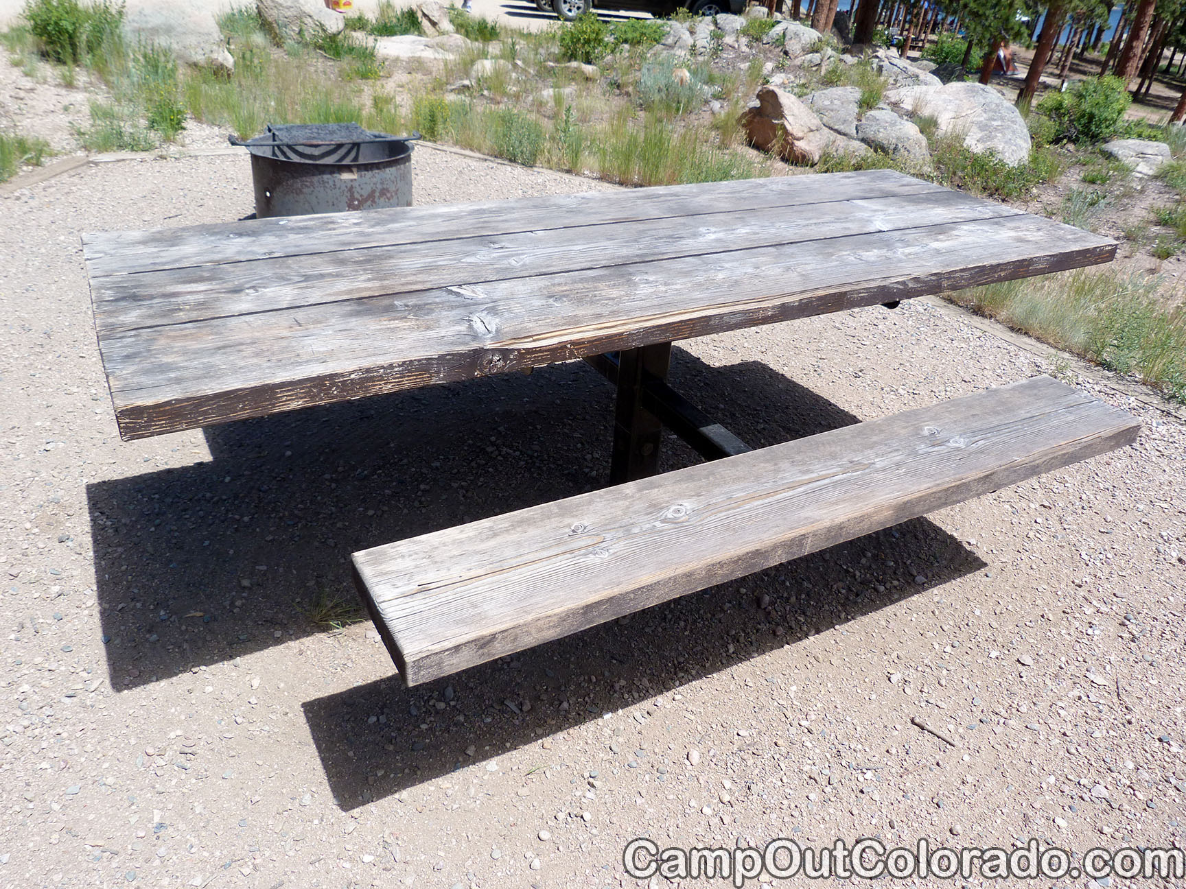 Campoutcolorado-dowdy-lake-campground-wood-table