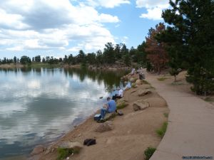 camp-out-colorado-bellaire-lake-lakside-path
