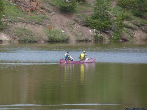 camp-out-colorado-chambers-lake-campground-canoe