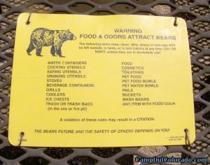 camp-out-colorado-eleven-mile-state-park-campground-bear-warning