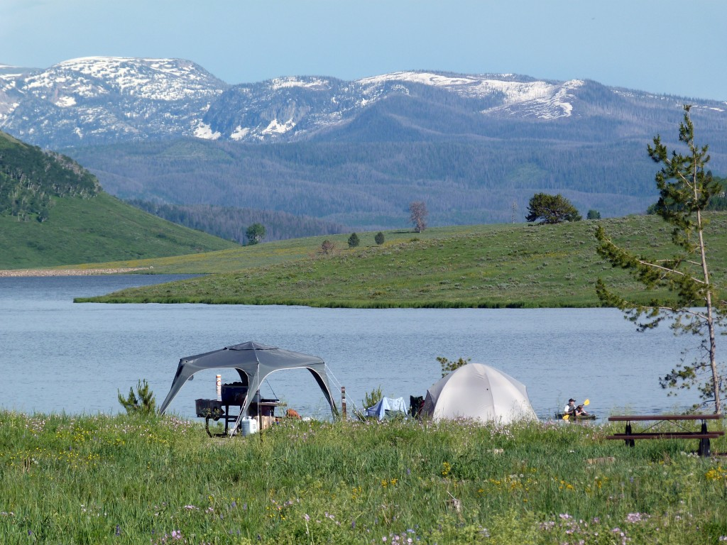 Camping review of steamboat lake state park campground for Colorado out of state fishing license