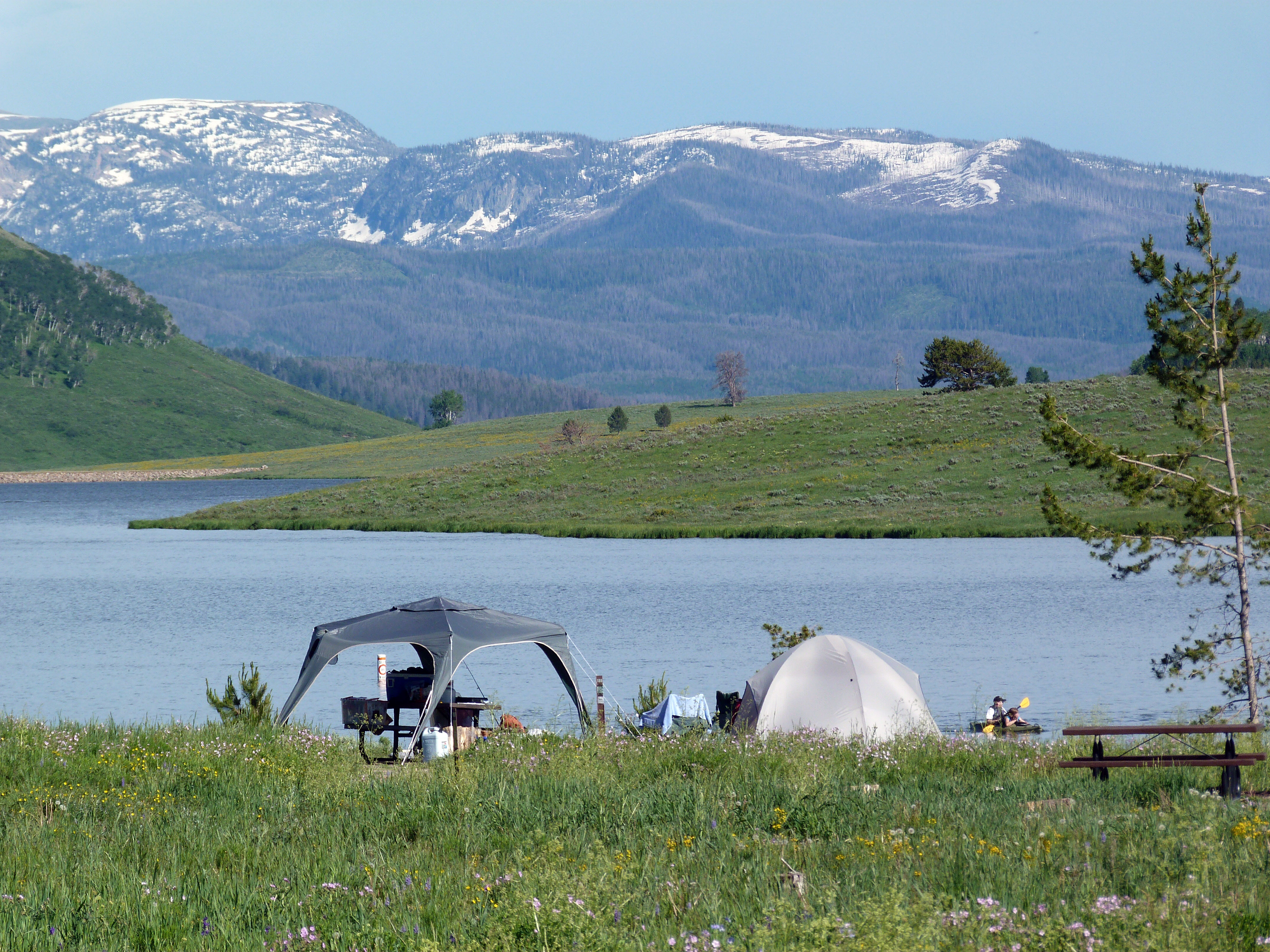 Camping review of steamboat lake state park campground for Camping and fishing in colorado