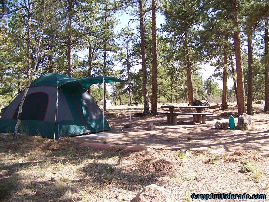 Round mountain campground camping review camp out colorado for Colorado out of state fishing license