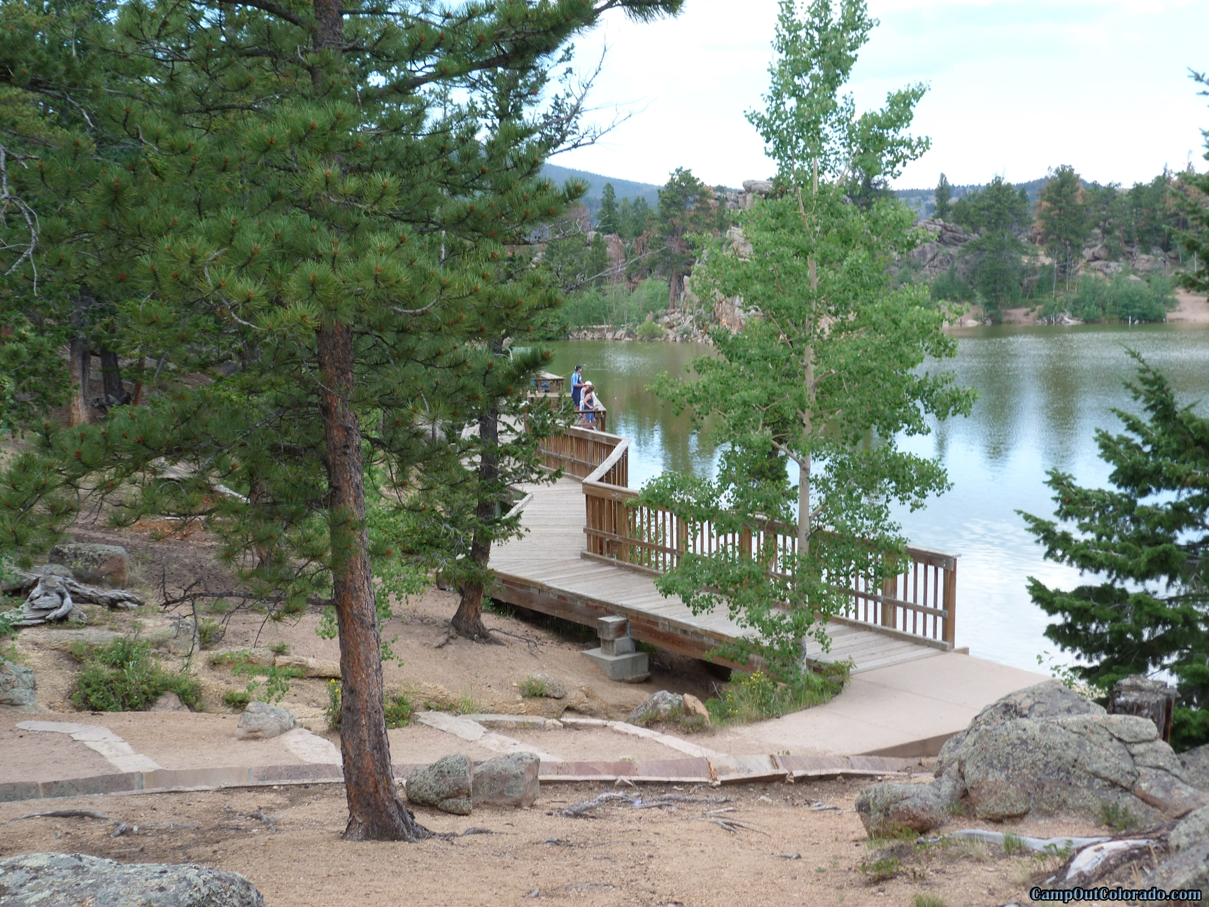 Bellaire lake campground camping review for Colorado out of state fishing license