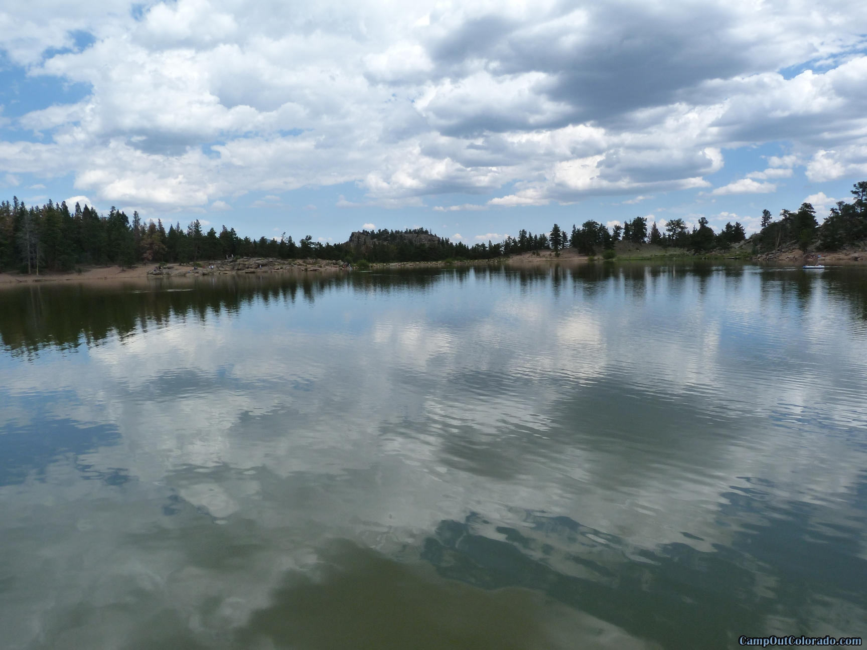 camp-out-colorado-bellaire-lake-view-across-lake