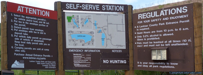 camp-out-colorado-carter-lake-sign