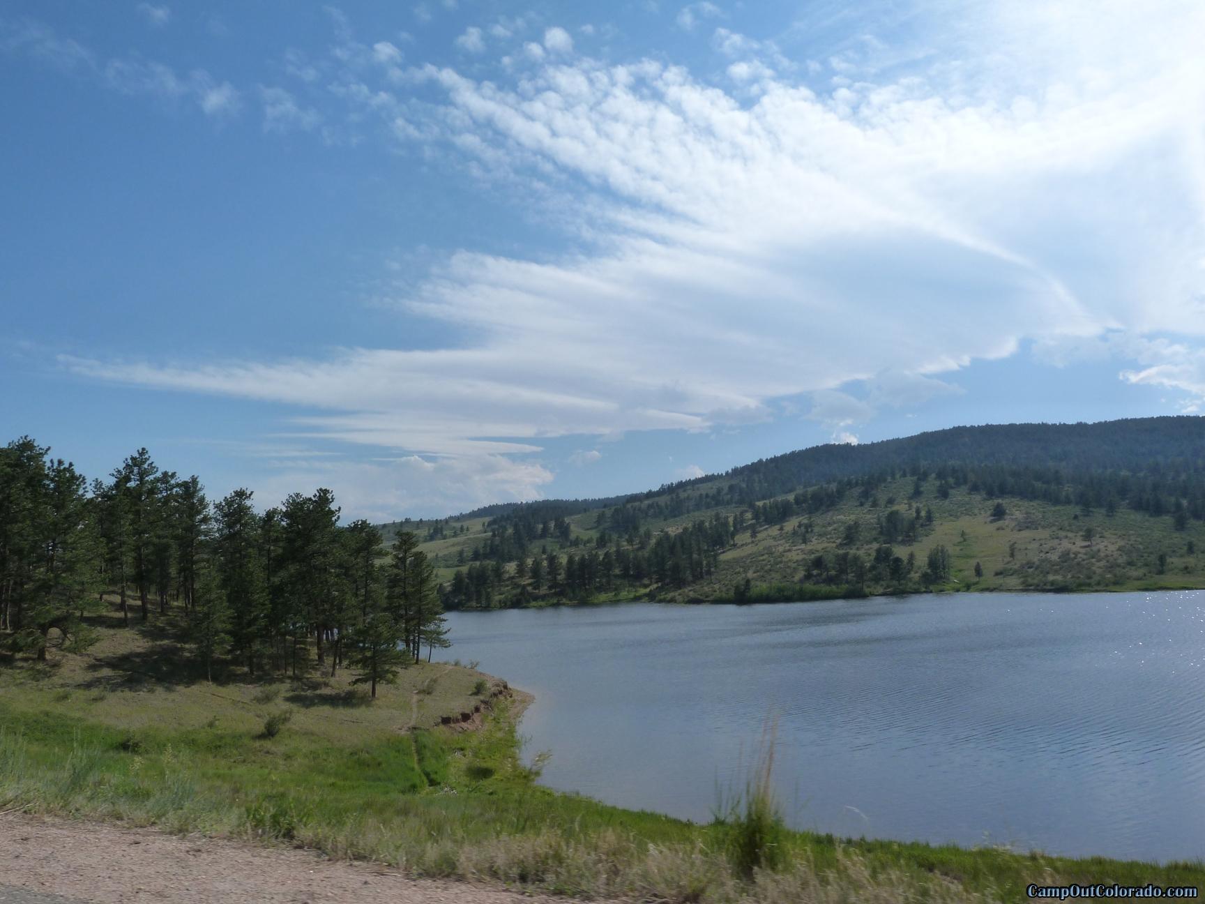 camp-out-colorado-pinewood-lake-near-dam