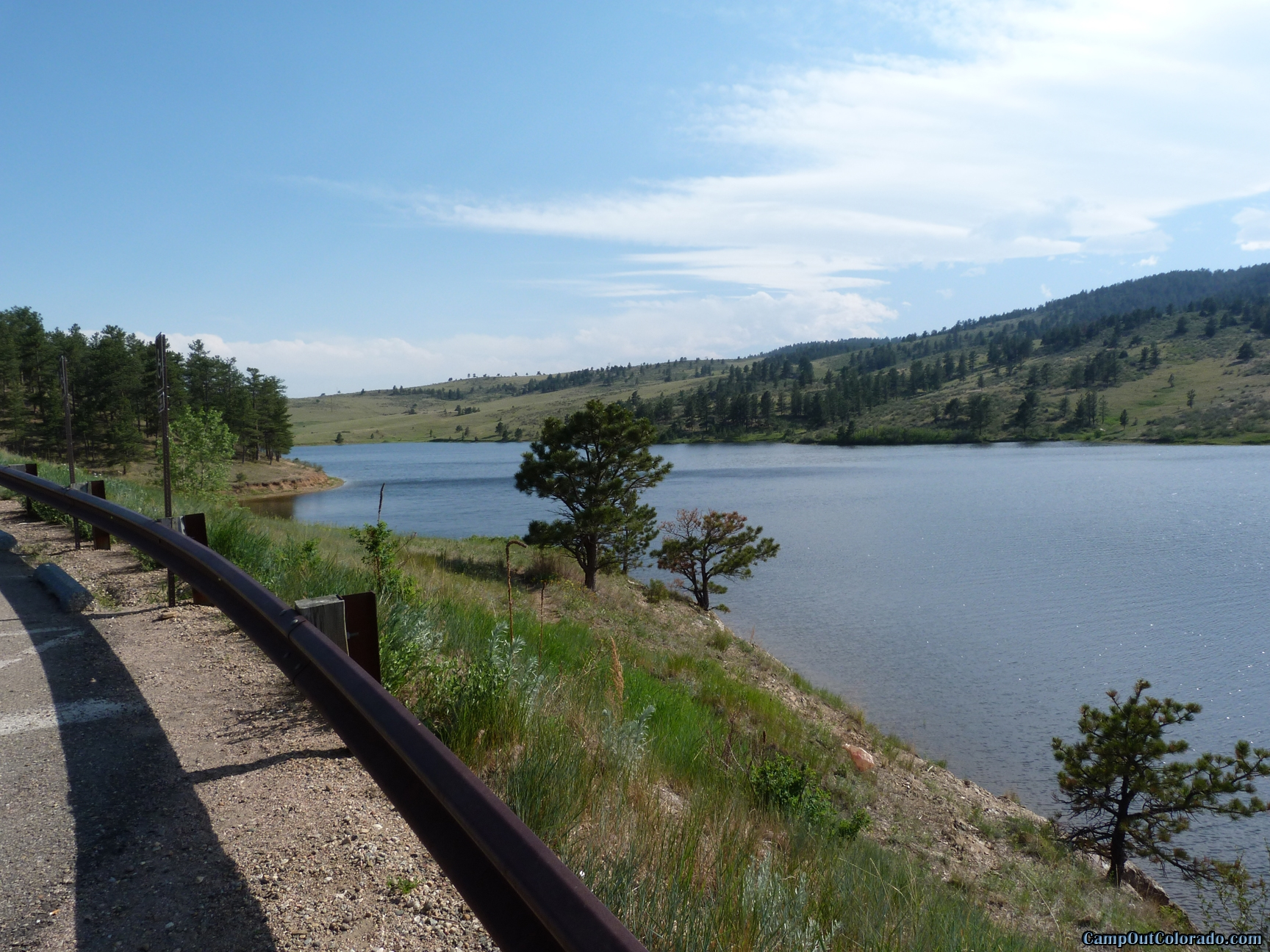 camp-out-colorado-pinewood-long-lake-view-from-dam