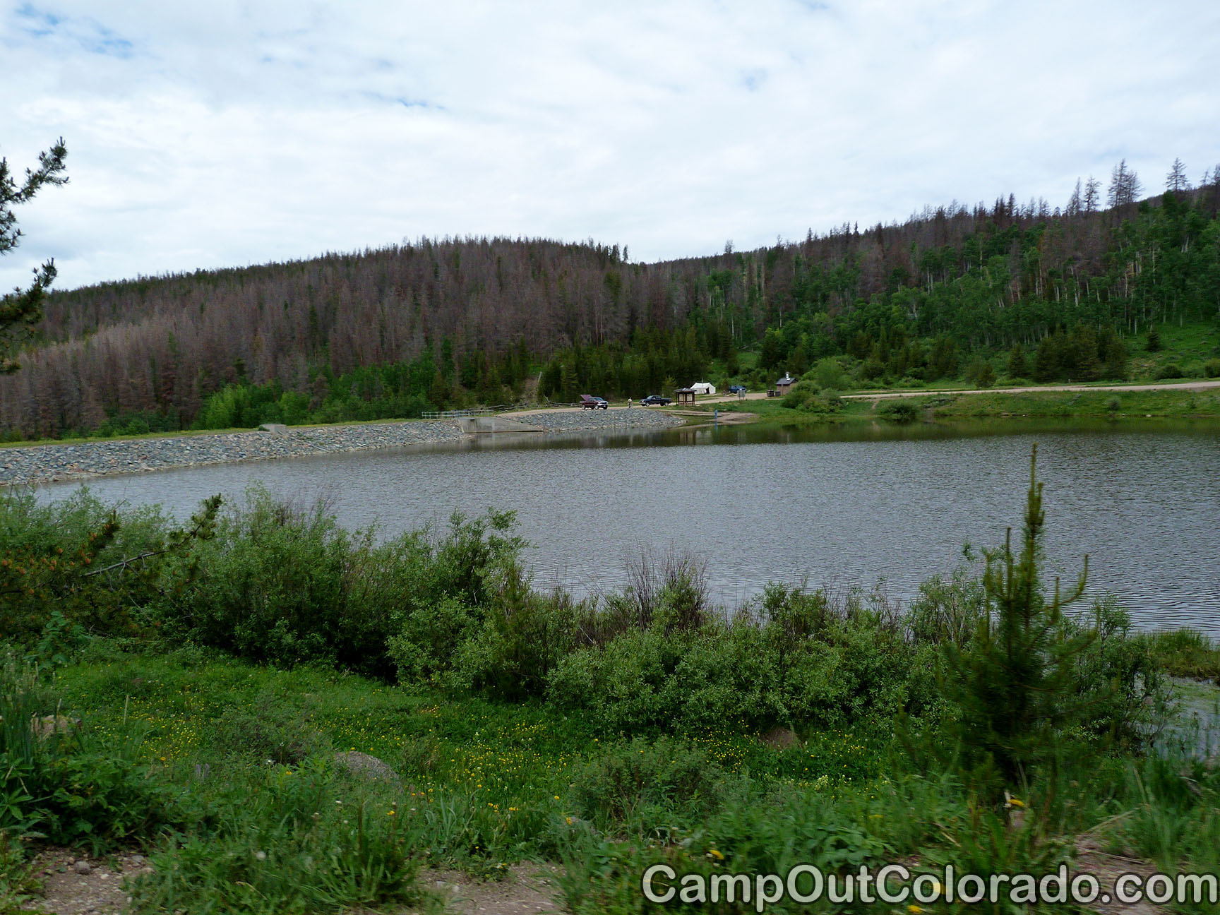 Campoutcolorado-north-michigan-reservoir-campground-dam-view