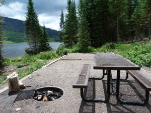 pearl-lake-state-park-campground-metal-picnic-tables