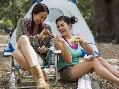 Women-camping